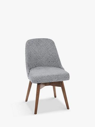 newest cd0f2 d1268 west elm Mid-Century Office Chair, Gravel Stripe