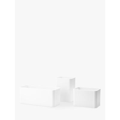 string Organisers Set, Pack of 3, White