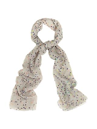 Phase Eight Cressida Scattered Brushstroke Print Scarf, Grey