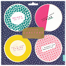 Buy NPW Notes To Self Slogan Coasters, Pack of 4 Online at johnlewis.com
