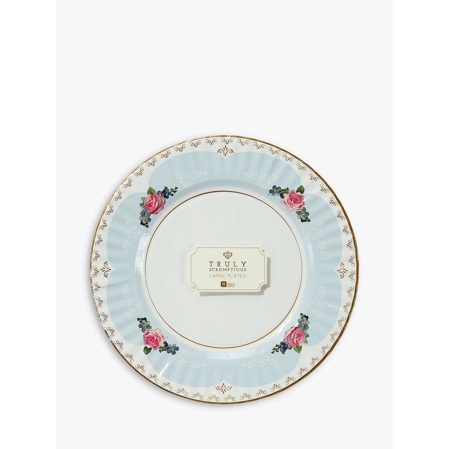 BuyTalking Tables Truly Chintz Medium Paper Plates Pack of 8 Online at johnlewis.com ...  sc 1 st  John Lewis : john lewis paper plates - Pezcame.Com
