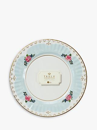 Talking Tables Truly Chintz Medium Paper Plates, Pack of 8