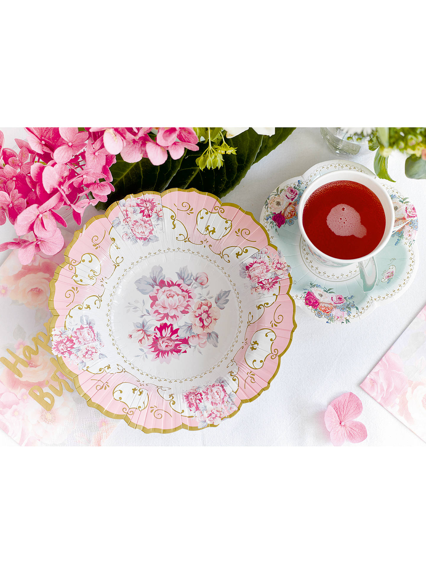 Buy Talking Tables Truly Chintz Cup and Saucers, Pack of 12 Online at johnlewis.com