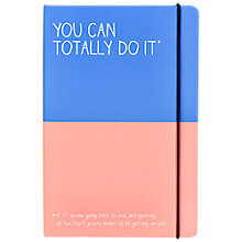 Buy Happy Jackson You Can Totally Do It Notebook Online at johnlewis.com