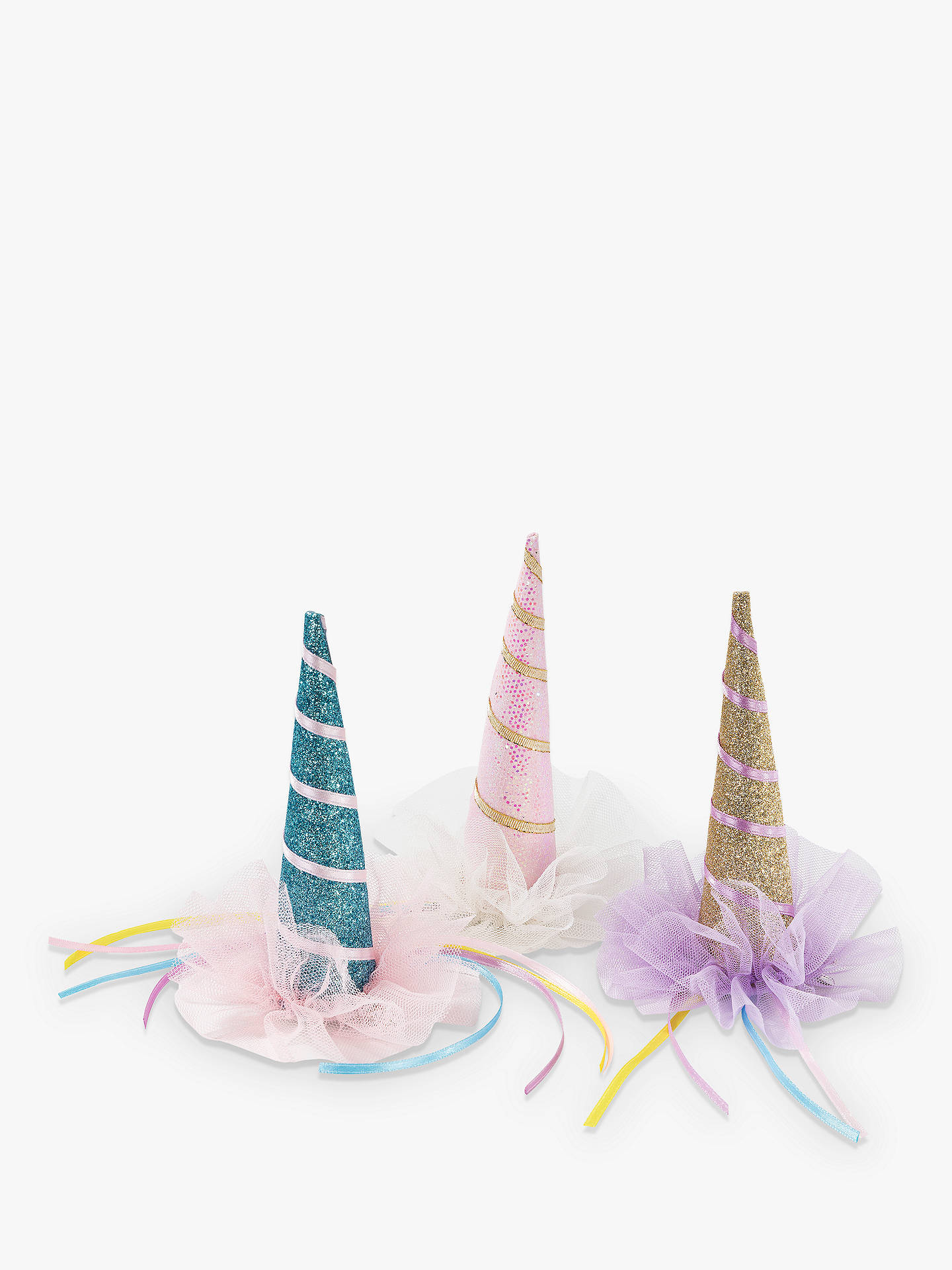 Buy Talking Tables Unicorn Clip-On Hat, Assorted Online at johnlewis.com
