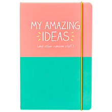 Buy Happy Jackson A5 My Amazing Idea Notebook Online at johnlewis.com