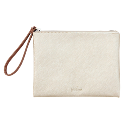Caroline Gardner Hearts Metallic Clutch Bag, Gold