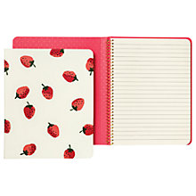 Buy kate spade new york Strawberries Notebook, Cream/Red Online at johnlewis.com