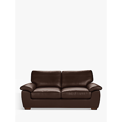 John Lewis & Partners Camden Large 3 Seater Leather Sofa, Dark Leg