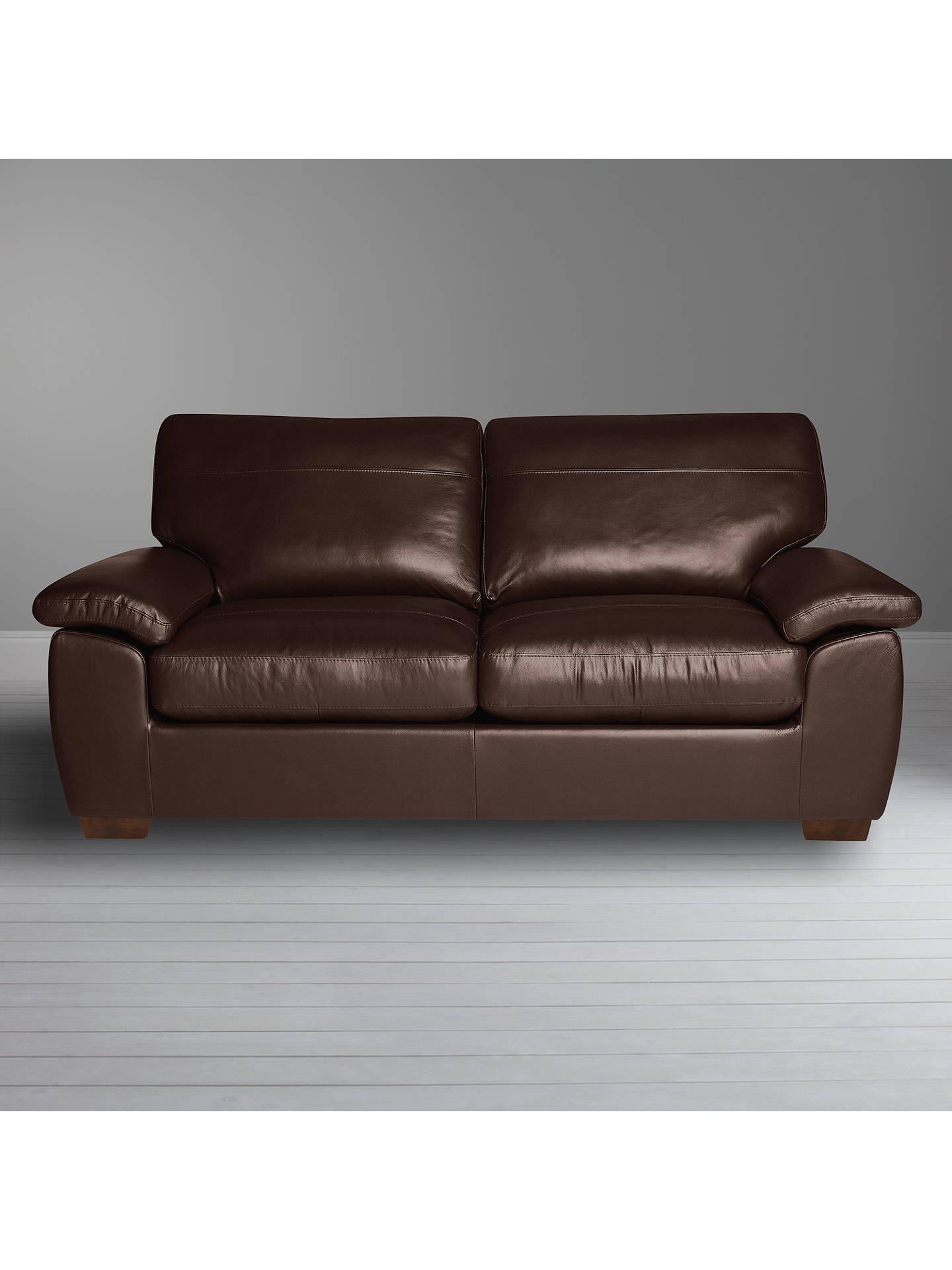Surprising John Lewis Partners Camden Large 3 Seater Leather Sofa Dark Leg Nature Brown Home Interior And Landscaping Ponolsignezvosmurscom