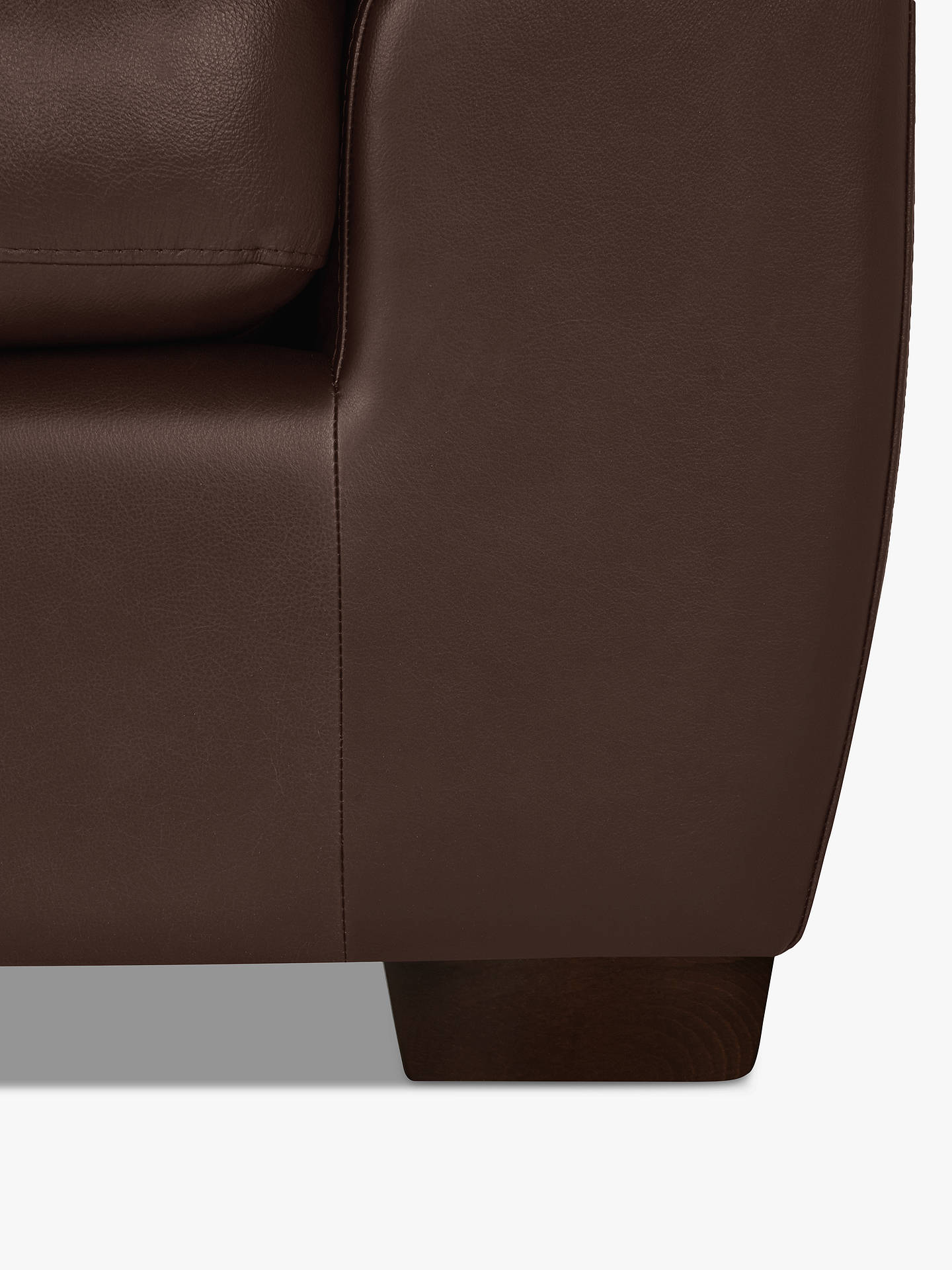 Buy John Lewis & Partners Camden Leather Corner Sofa, Dark Leg, Nature Brown Online at johnlewis.com