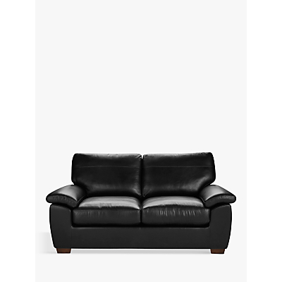 John Lewis Camden Medium 2 Seater Leather Sofa, Dark Leg