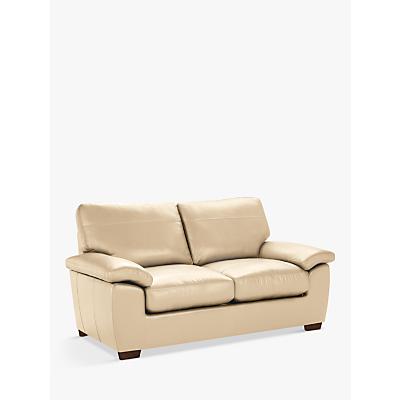 John Lewis Camden Medium 2 Seater Leather Sofa, Dark Leg