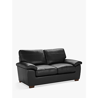 John Lewis & Partners Camden Medium 2 Seater Leather Sofa, Dark Leg