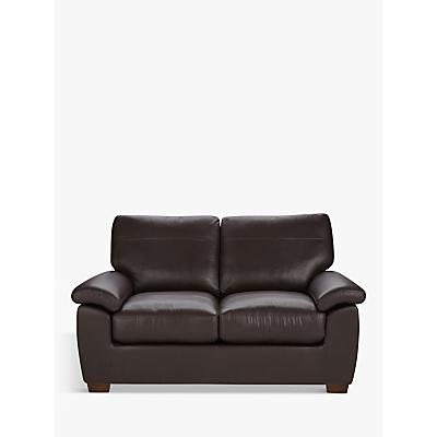 John Lewis Camden Small 2 Seater Leather Sofa, Dark Leg