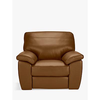 John Lewis & Partners Camden Leather Recliner Armchair, Dark Leg