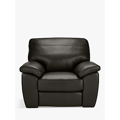 John Lewis Camden Leather Armchair, Dark Leg