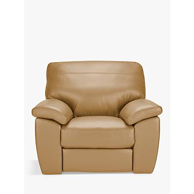 John Lewis Camden Leather Armchair, Dark Leg