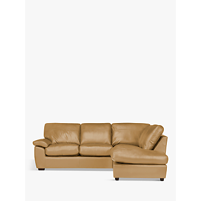 John Lewis & Partners Camden Leather RHF Chaise Corner End Sofa, Dark Leg
