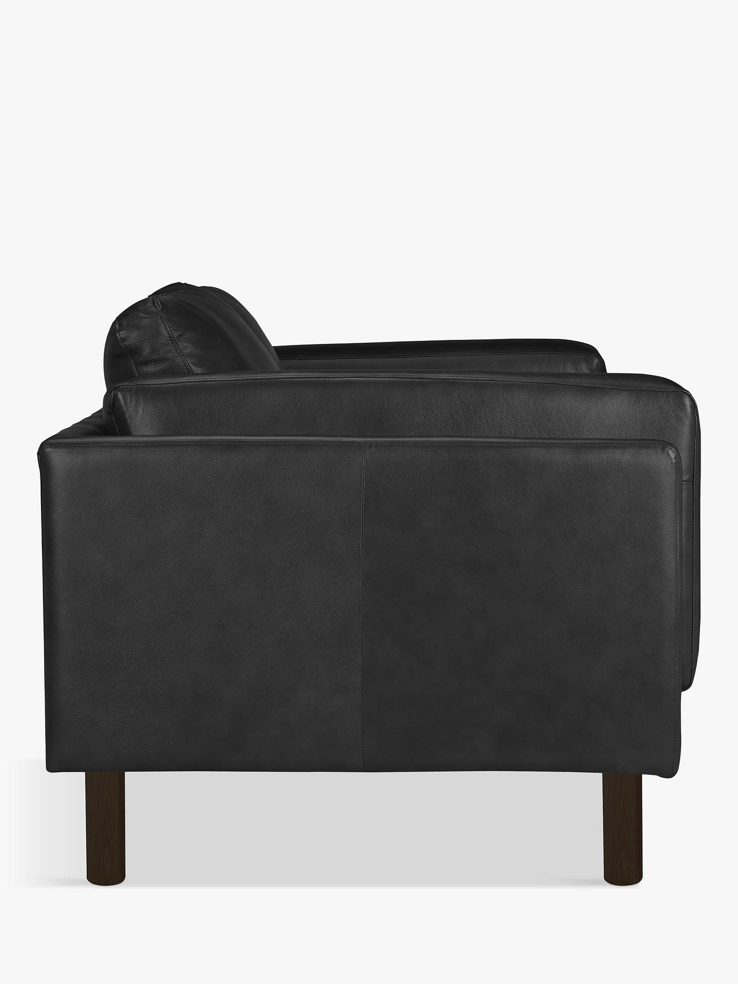 BuyDesign Project by John Lewis No.002 Grand 4 Seater Leather Sofa, Dark Leg, Contempo Black Online at johnlewis.com
