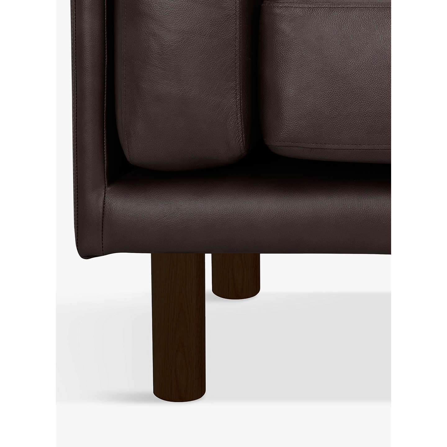 BuyDesign Project by John Lewis No.002 Grand 4 Seater Leather Sofa, Dark Leg, Demetra Charcoal Online at johnlewis.com