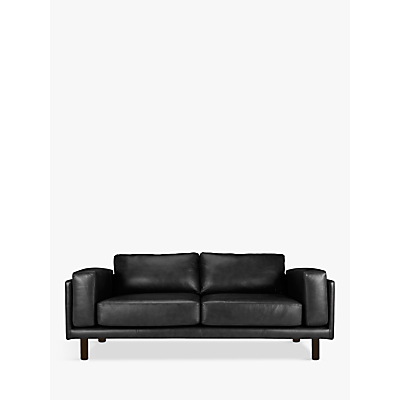 Design Project by John Lewis No.002 Grand 4 Seater Leather Sofa, Dark Leg