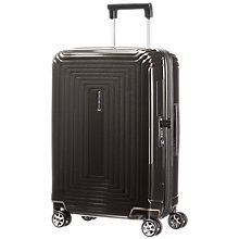 Buy Samsonite Neopulse 4-Wheel 55cm Cabin Suitcase, Metallic Black Online at johnlewis.com
