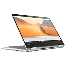 "Buy Lenovo 710 Laptop, Intel Core i5, 8GB RAM, 128GB SSD, 14"" Touch Screen, Silver Online at johnlewis.com"