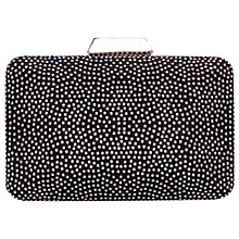 Buy Carvela Delight Studded Clutch Bag, Black Online at johnlewis.com