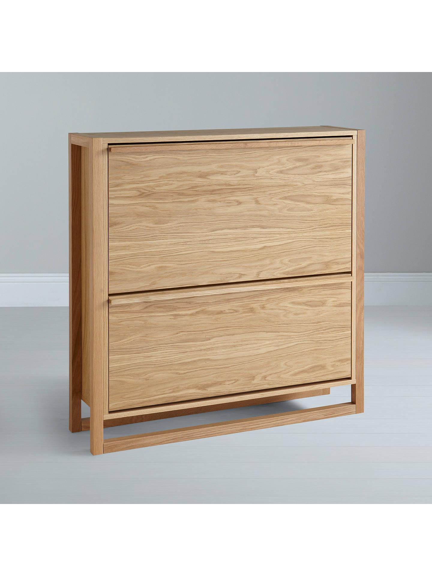Buyjohn lewis partners shoe storage cabinet oak online at johnlewis