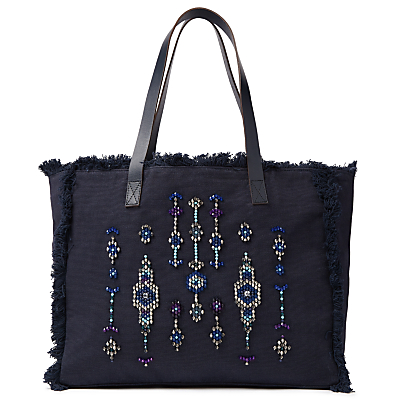 AND/OR Avalon Jewelled Tote Bag, Navy