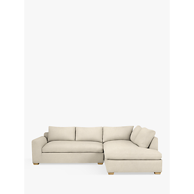 John Lewis Tortona RHF Chaise End Sofa, Light Leg, Chicago Natural