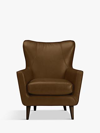 John Lewis & Partners Thomas Leather Armchair, Demetra Light Tan