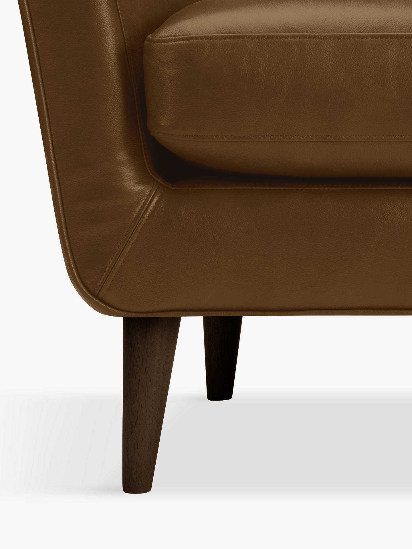 Buy John Lewis & Partners Thomas Leather Armchair, Demetra Light Tan Online at johnlewis.com