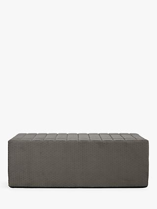 House by John Lewis Kix Double Sofa Bed with Foam Mattress, Stitch Charcoal