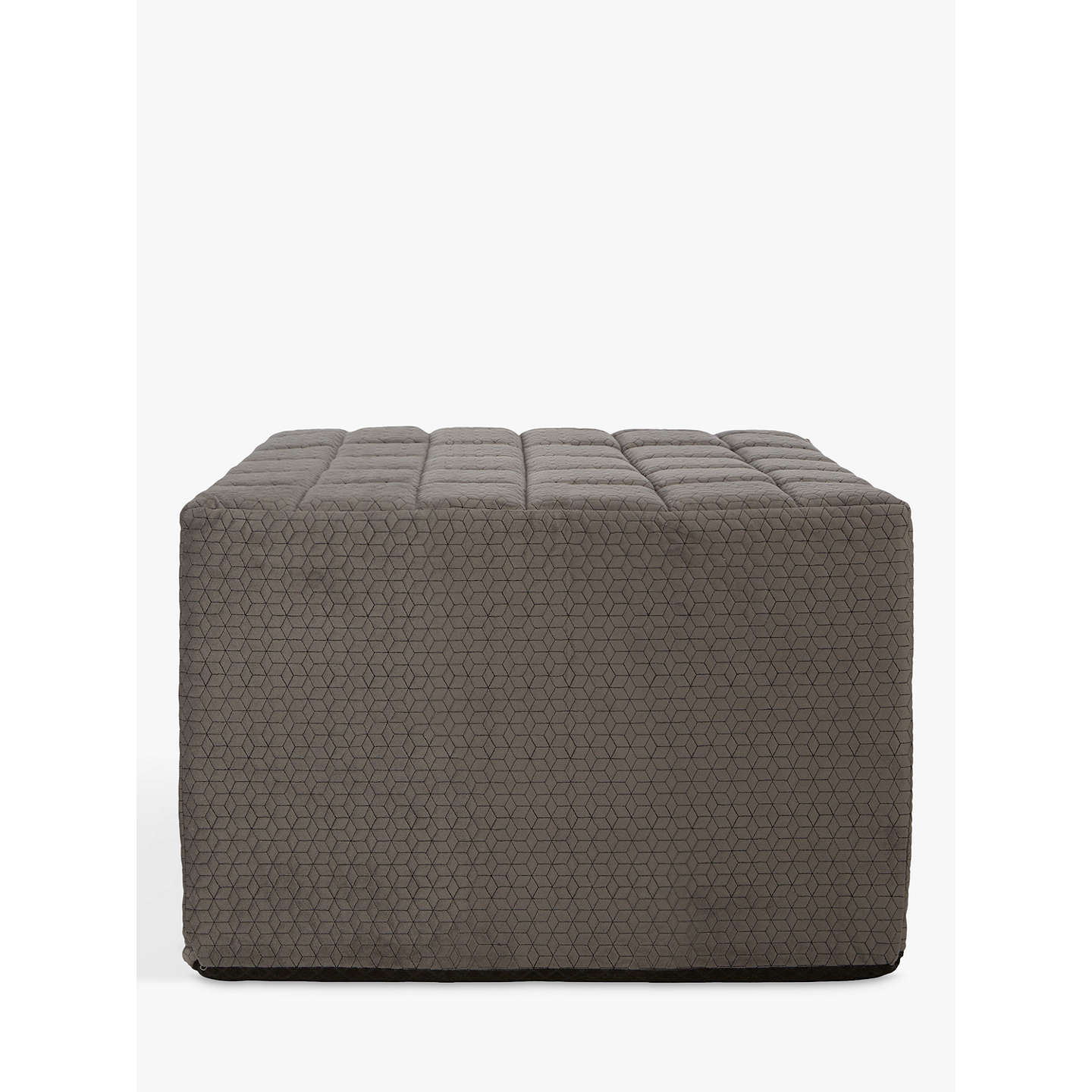 single sofa bed. BuyHouse By John Lewis Kix Single Sofa Bed With Foam Mattress, Stitch Charcoal Online At D