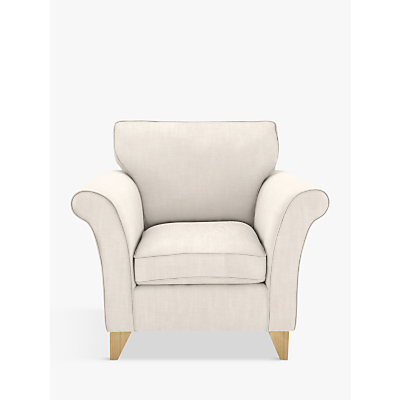 John Lewis Charlotte Armchair, Light Leg, Lynton Putty