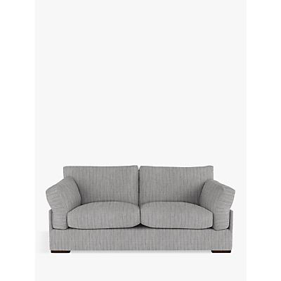 John Lewis Java Large 3 Seater Sofa, Dark Leg, Porto Blue Grey