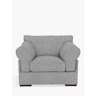 John Lewis Java Armchair, Dark Leg, Porto Blue Grey