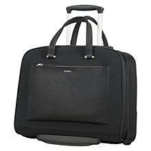 "Buy Samsonite Zalia 15.6"" Laptop Rolling Tote, Black Online at johnlewis.com"