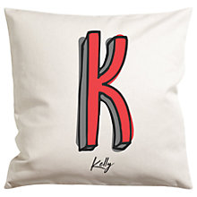 Buy A Piece Of Personalised Initial Cushion Online at johnlewis.com