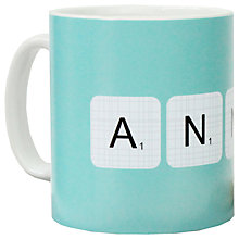 Buy A Piece Of Personalised Scrabble Mug Online at johnlewis.com