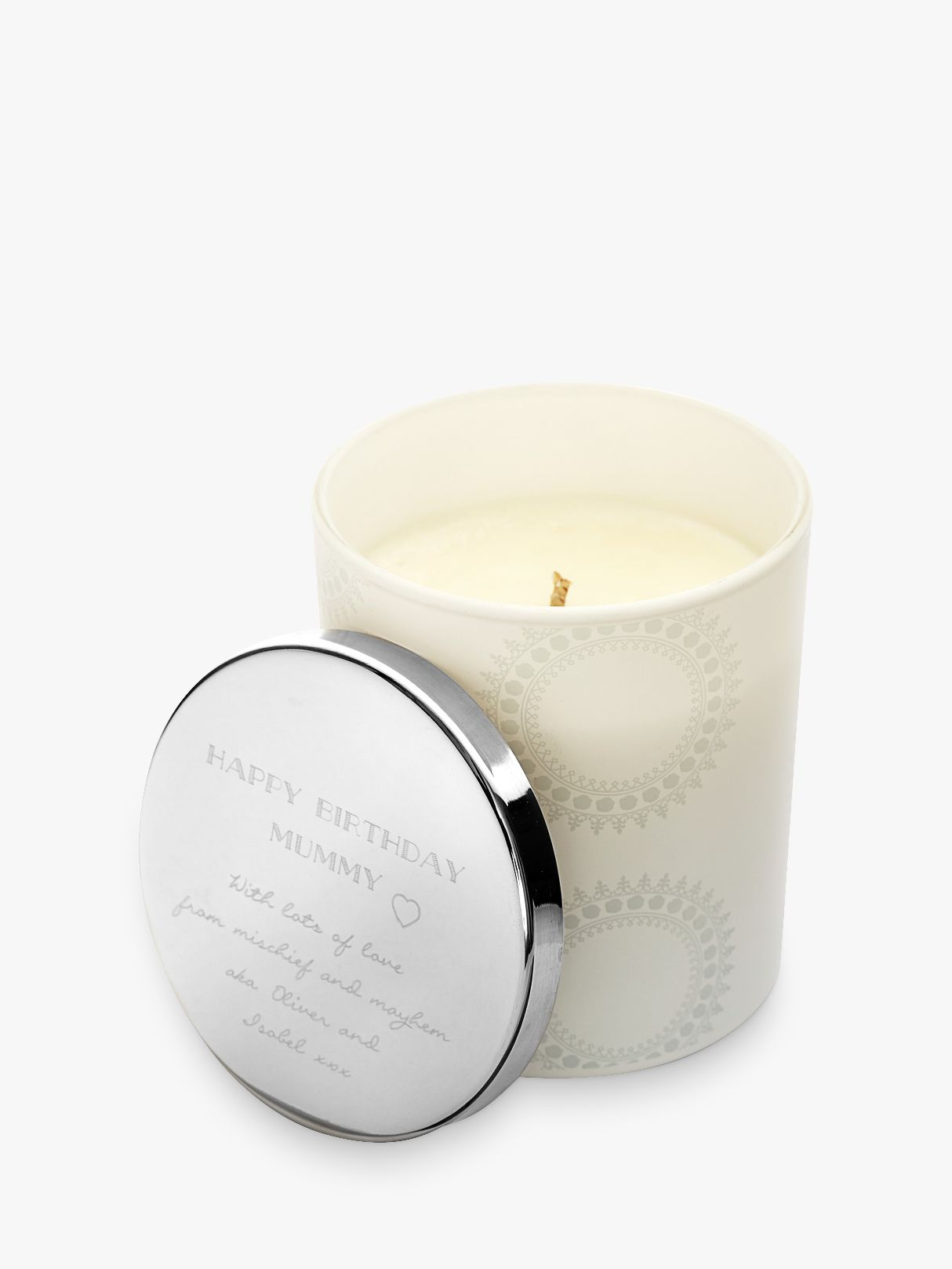Under The Rose Under the Rose Personalised Scented Candle With Engraved Lid
