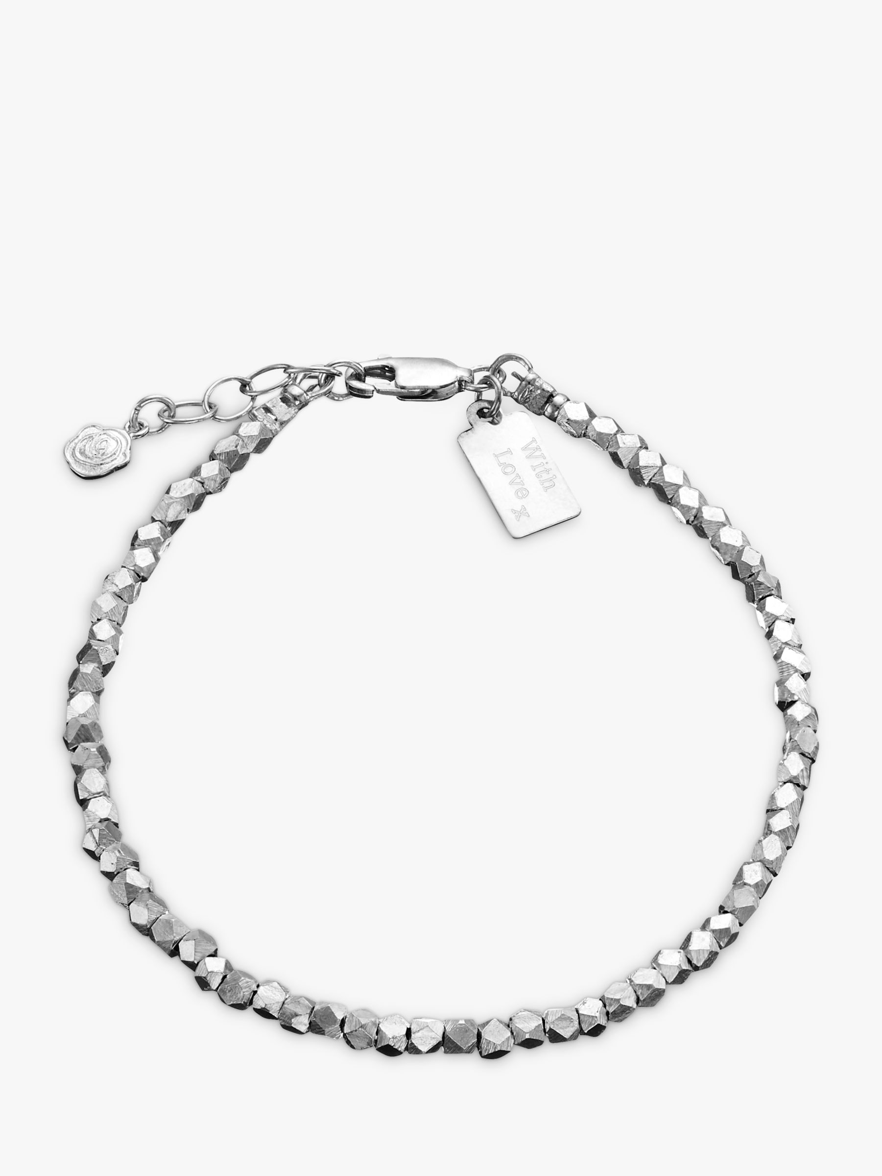 Under The Rose Under the Rose Personalised Nugget Bracelet