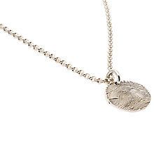 Buy Morgan & French Personalised Fingerprint Circle Chain Necklace, Silver Online at johnlewis.com
