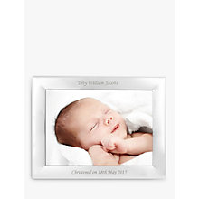 "Buy StompStamps Personalised Silver Plated Photo Frame 5 x 7"" (13 x 18cm) Online at johnlewis.com"