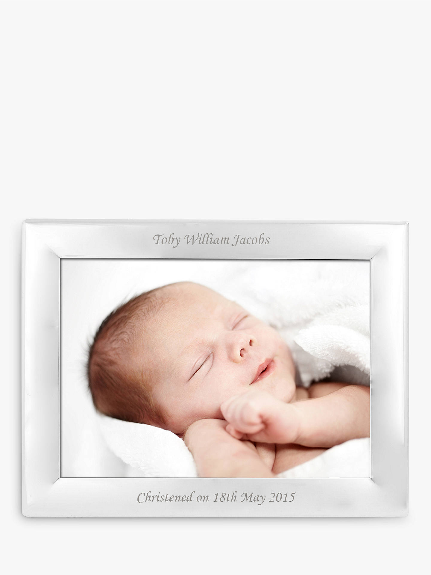 StompStamps Personalised Silver Plated Photo Frame 5 x 7\