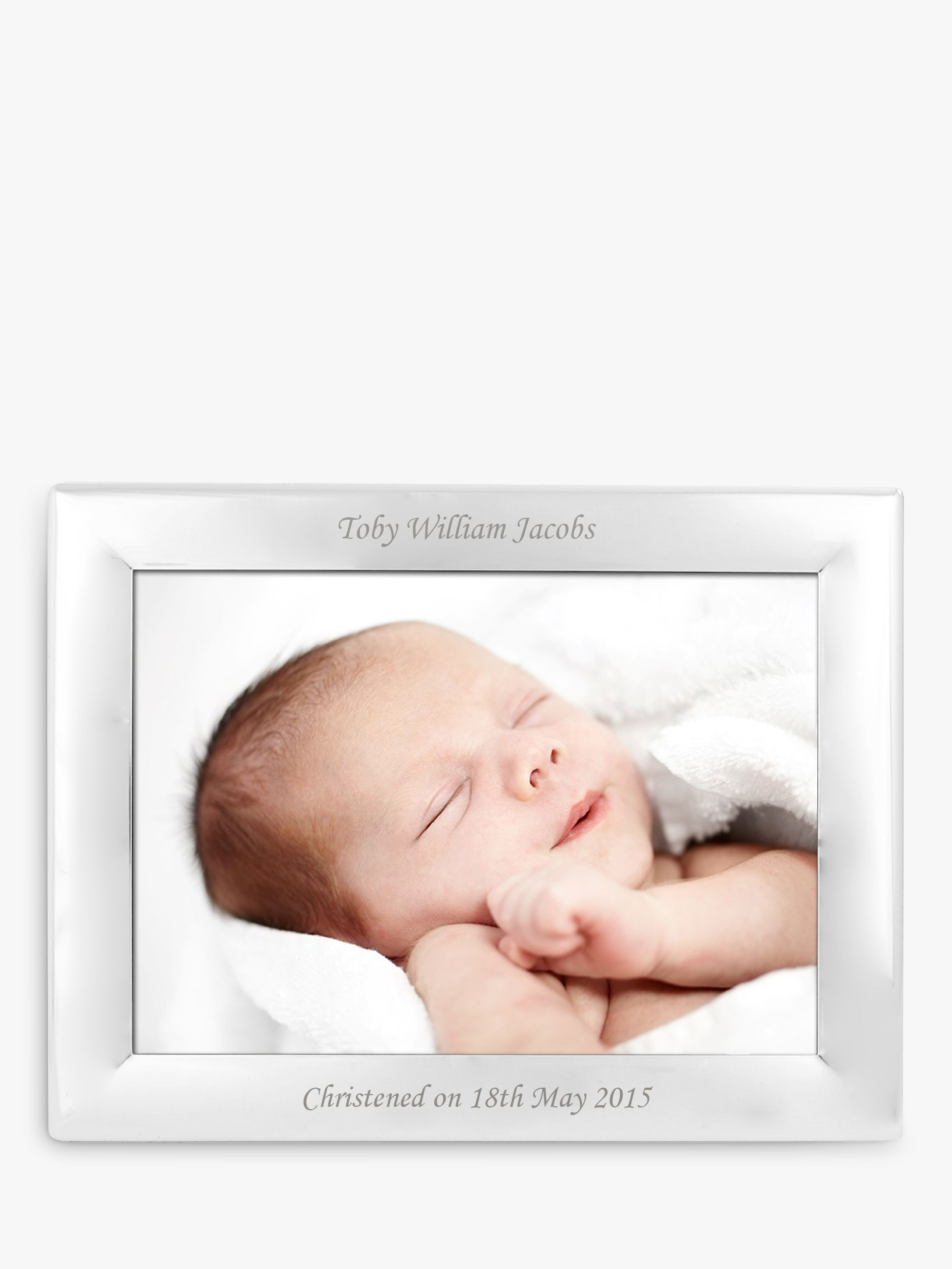 StompStamps StompStamps Personalised Silver Plated Photo Frame 5 x 7 (13 x 18cm)