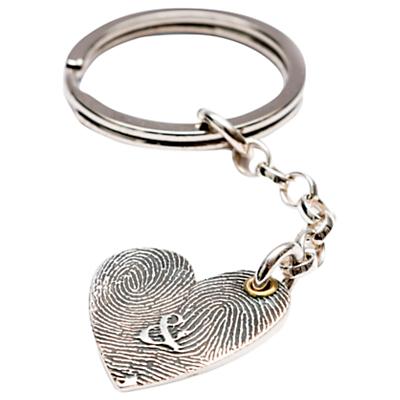 Morgan & French Personalised Inked Fingerprint Heart Keyring Review