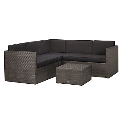John Lewis Almeria Outdoor 4 Seater Corner Lounge Set, Grey